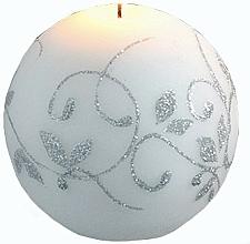 Парфюмерия и Козметика Декоративна свещ, топка, бяла, 8 см - Artman Amelia
