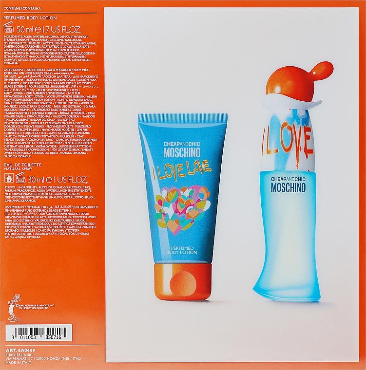 Moschino I Love Love - Комплект (тоал. вода/30ml + лосион за тяло/50ml) — снимка N3