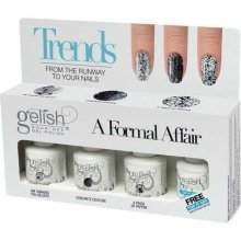 Парфюми, Парфюмерия, козметика Комплект лак за нокти - Gelish A Formal Affair Kit (nail/3х15ml + top/15ml)
