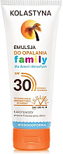 Парфюмерия и Козметика Слънцезащитна емулсия за цялото семейство - Kolastyna Family Suncare Emulsion SPF 30