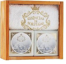 Парфюмерия и Козметика Комплект сапуни - Essencias De Portugal Senses Wooden Box (soap/2x200g + towel)
