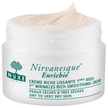 Парфюми, Парфюмерия, козметика Наситен крем против първите мимически бръчки за суха кожа - Nuxe Nirvanesque Enrichie First Wrinkles Smoothing Rich Cream Dry Skin