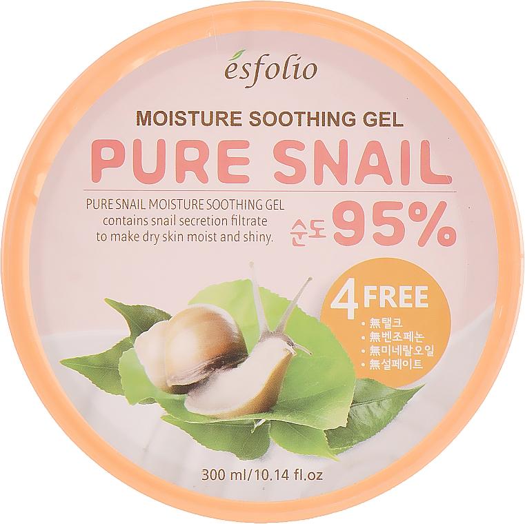 Овлажняващ гел с муцин от охлюв - Esfolio Pure Snail Moisture Soothing Gel 95% Purity