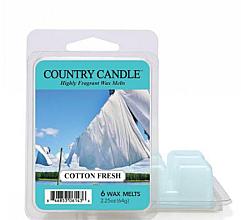 Парфюмерия и Козметика Ароматен восък - Country Candle Cotton Fresh Wax Melts