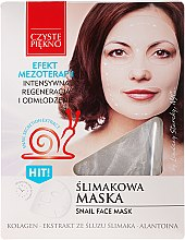 Парфюмерия и Козметика Маска за лице с екстракт от охлюв - Czyste Piekno Snail Face Mask