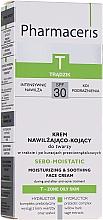 Парфюмерия и Козметика Овлажняващ крем за лице, за след анти-акне терапия - Pharmaceris T Sebo-Moistatic Cream SPF30
