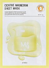 Парфюмерия и Козметика Лечебна маска за лице с магнезий - A'pieu Cicative Magnesium Sheet Mask