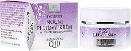 Парфюмерия и Козметика Нощен крем за лице - Bione Cosmetics Exclusive Organic Night Facial Cream With Q10
