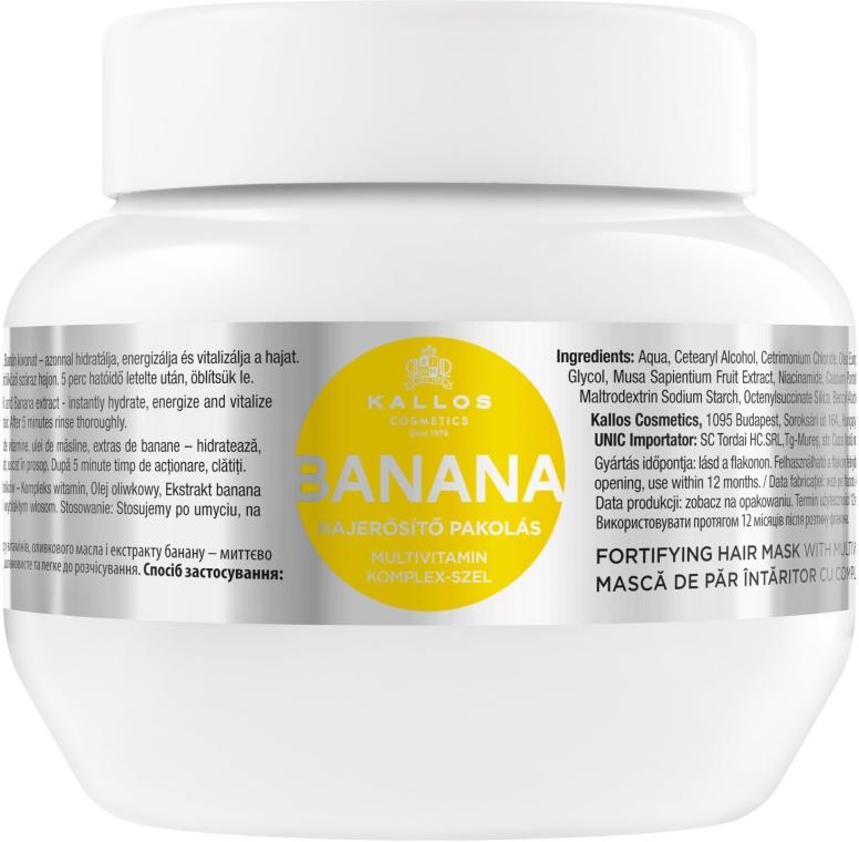 Маска за укрепване на косата с екстракт от банан - Kallos Cosmetics Banana Mask