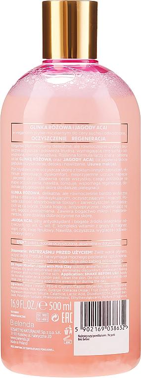Мицеларна вода за почистване на грим с розова глина - Bielenda Clays — снимка N2