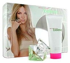 Парфюми, Парфюмерия, козметика Britney Spears Believe - Комплект (парф. вода/30ml + крем за тяло/100ml)