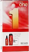 Парфюмерия и Козметика Комплект за коса - Revlon Professional Uniq One Uniqone Duo Pack (спрей/150ml + шампоан-балсам/300ml)