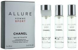 Парфюмерия и Козметика Chanel Allure homme Sport - Тоалетна вода (3 бр. пълнители)