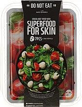 Парфюми, Парфюмерия, козметика Комплект памучни маски за уморена и дехидратирана кожа - Superfood For Skin (mask/7x25ml)