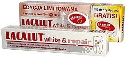 Парфюмерия и Козметика Комплект паста и конец за зъби - Lacalut White & Repair Set (t/paste/75ml+dental/floss)