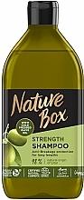 Парфюмерия и Козметика Шампоан за дълга коса със студено пресовано маслино масло - Nature Box Shampoo Olive Oil