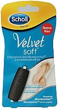 Парфюмерия и Козметика Сменяеми ролки за електрическа пила, средно твърди - Scholl Velvet Soft Ricarica Micralumina