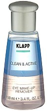 Парфюмерия и Козметика Двуфазен лосион за премахване на грим от очи - Klapp Clean & Active Eye Make-up Remover