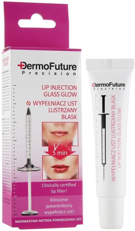Мигновен серум за устни с гланц ефект и хиалуронова киселина - DermoFuture Lip Injection Glass Glow