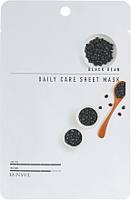 Парфюмерия и Козметика Памучна маска за лице с екстракт от черен боб - Eunyul Black Bean Daily Care Sheet Mask