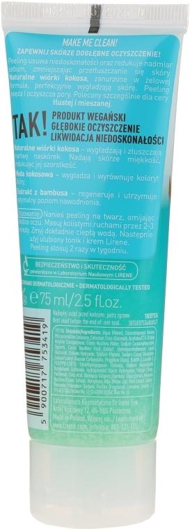 Кокосов пилинг за лице с екстракт от бамбук - Lirene Make Me Clean! Peeling — снимка N2