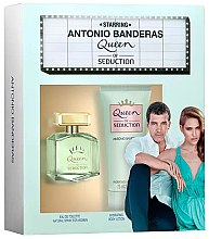 Парфюми, Парфюмерия, козметика Antonio Banderas Queen of Seduction - Комплект (edt/80ml + b/lot/75ml)