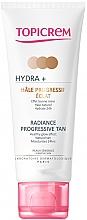 Парфюмерия и Козметика Автобронзиращ крем за лице и шия - Topicrem Hydra+ Radiance Progressive Tan