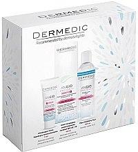 Парфюми, Парфюмерия, козметика Комплект за лице - Dermedic Angio (крем/40ml + крем/7ml + мицел. вода/100ml)