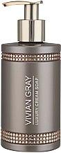 Парфюмерия и Козметика Течен сапун - Vivian Gray Brown Crystals Luxury Cream Soap