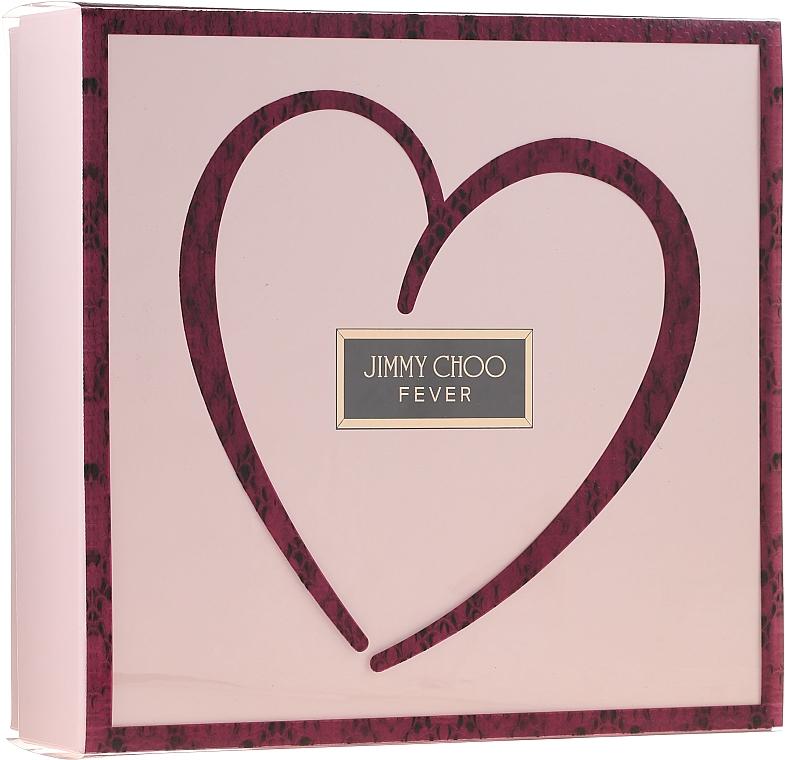 Jimmy Choo Fever - Комплект (парф. вода/100ml + лосион за тяло/100ml + парф. вода/7.5ml) — снимка N1