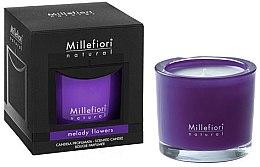 "Парфюми, Парфюмерия, козметика Ароматна свещ ""Цветна мелодия"" - Millefiori Milano Natural Candle Melody Flowers"