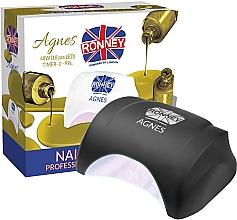 Парфюмерия и Козметика Лампа за нокти LED, черна - Ronney Profesional Agnes LED 48W (GY-LED-032)