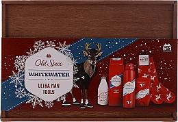 Парфюмерия и Козметика Комплект - Old Spice Whitewater Wooden (дезод./50g + душ гел/250ml + афтър. лос./100ml + дезод. спрей/150ml + чорапи)