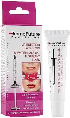 Мигновен серум за устни с гланц ефект и хиалуронова киселина - DermoFuture Lip Injection Glass Glow — снимка N1