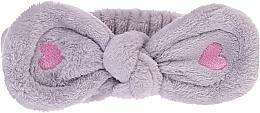 Парфюмерия и Козметика Козметична лента за коса, сива - Lash Brow Cosmetic SPA Band
