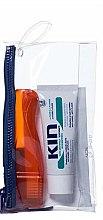 Парфюми, Парфюмерия, козметика Комплект за зъби - Kin Travel Kit Orange Brush (паста/25ml + четка/1бр + несесер)