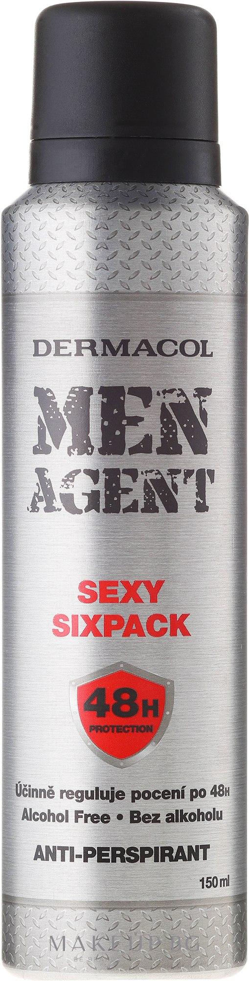 Дезодорант против изпотяване - Dermacol Men Agent Sexy Sixpack 48H Protection Anti-Perspirant — снимка 150 ml