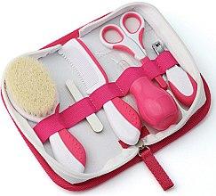 Парфюмерия и Козметика Детски комплект грижа за коса и нокти 0м+, розов - Nuvita