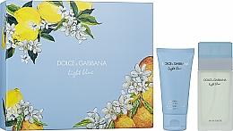 Парфюмерия и Козметика Dolce&Gabbana Light Blue - Комплект (тоал.вода/50 ml + лосион за тяло/50ml)