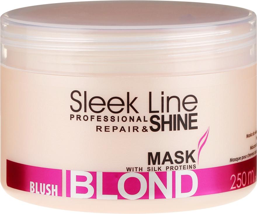 Маска за руса коса, придаваща розов нюанс - Stapiz Sleek Line Blush Blond Mask