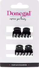 Парфюмерия и Козметика Щипки за коса FA-9930, мини, черни, 4 бр. - Donegal Hair Clip