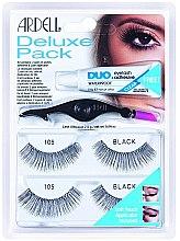 Парфюми, Парфюмерия, козметика Комплект изкуствени мигли - Ardell Eyelash 105 Deluxe Kit Black
