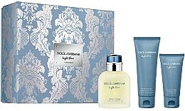 Парфюмерия и Козметика Dolce&Gabbana Light Blue Pour Homme - Комплект (тоал. вода/125ml + душ гел/ 50ml + афтър. балсам/75ml)