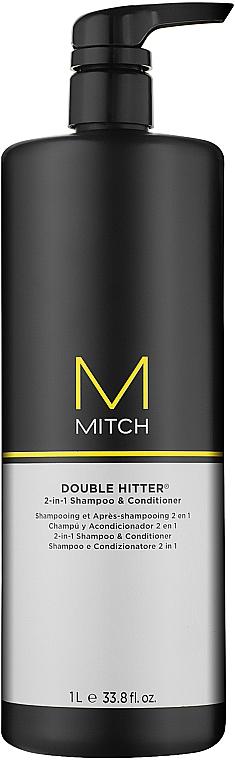 Шампоан и балсам 2 в 1 - Paul Mitchell Mitch Double Hitter 2 in 1 Shampoo & Conditioner  — снимка N2