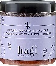 Парфюмерия и Козметика Натурален скраб с масло от слива и жожоба - Hagi Scrub