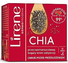 Парфюми, Парфюмерия, козметика Подхранващ крем против бръчки със семена от чиа - Lirene Superfood For Skin