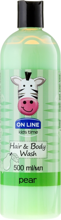 "Шампоан-душ гел ""Круша"" - On Line Kids Time Hair & Body Wash Pear"