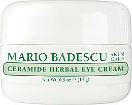 Парфюмерия и Козметика Билков околоочен крем - Mario Badescu Ceramide Herbal Eye Cream