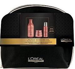 Парфюмерия и Козметика Комплект за коса - L'Oreal Professionnel Inforcer Strengthening (shm/300ml + mask/250ml + spray/60ml + bag)