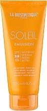 Парфюмерия и Козметика Водоустойчива слънцезащитна емулсия за лице - La Biosthetique Soleil Emulsion SPF 25